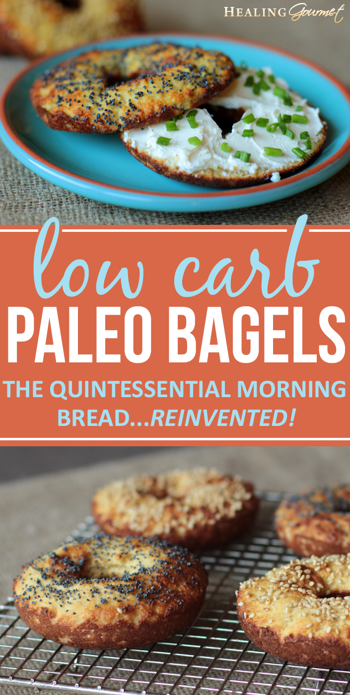 Love bagels but not the carbs and gluten? Our quick and delicious Paleo bagels are perfect for spreading with cream cheese or topping with wild salmon lox.