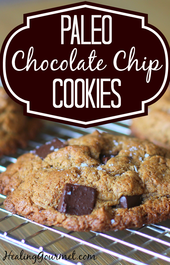 Paleo Chocolate Chip Cookies made with Almond Butter- Healing Gourmet