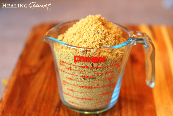 Image of Freshly Made Gluten-Free Breadcrumbs for Paleo Meatballs