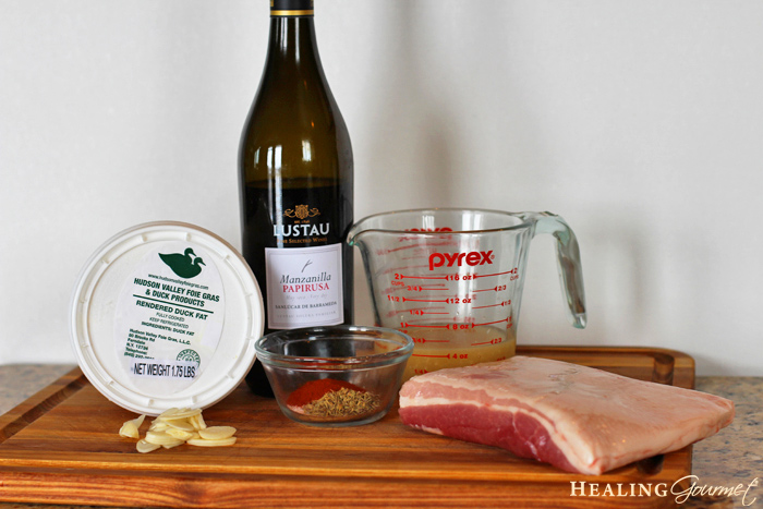 ingredients for pork belly recipe