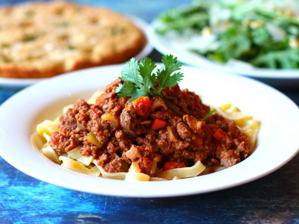 Image from a post with the title: Instant Pot Bolognese (Keto + Paleo Friendly).