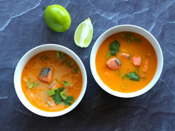 Image from a post with the title: Instant Pot Keto Thai Salmon....